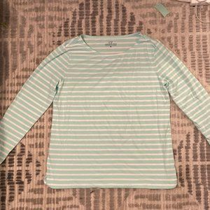 *Brand New* Vineyard Vines long sleeve aqua/white